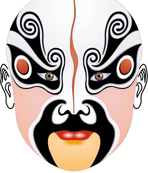 女人脸谱面具图片