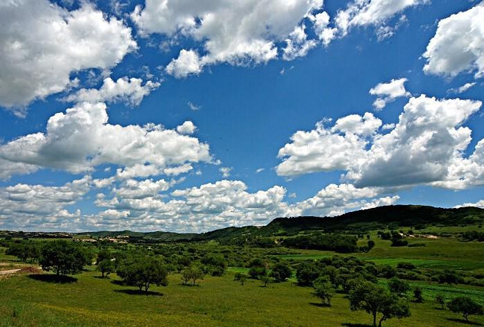御道口牧场草原森林风景区位于承德市围场