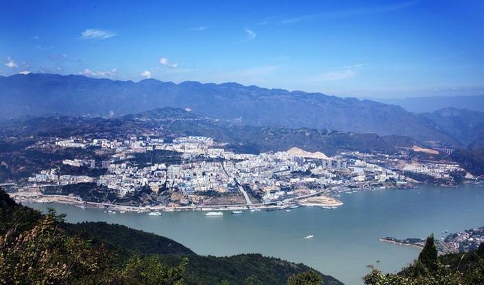 巫山风景素描图片